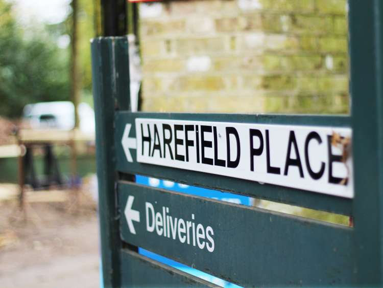 Harefield Place Sign