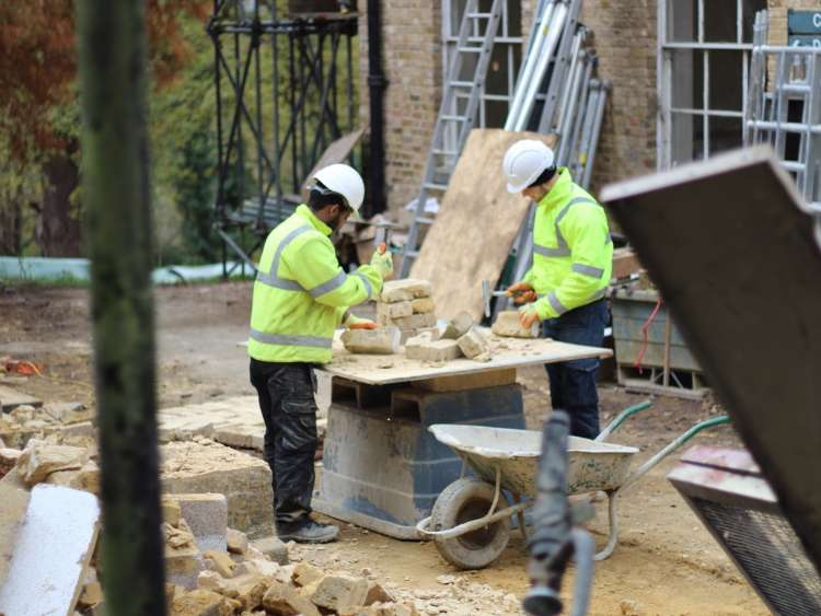 Workers at the Harefield Place site